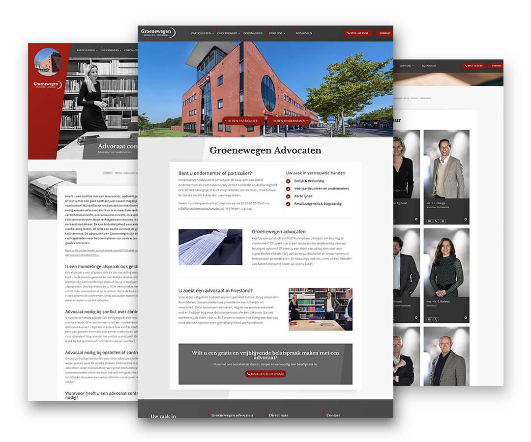 Portfolio Websites Groenewegen Advocaten Notarissen JeroenWebsitemarketing