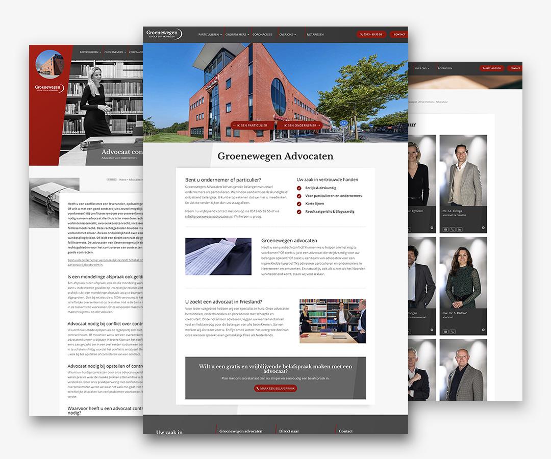 Portfolio websites Groenewegen Advocaten JeroenWebsitemarketing