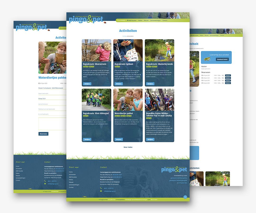 Portfolio websites It Fryske Gea Pingo en Pet JeroenWebsitemarketing